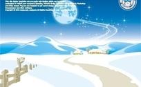 雪景圣诞用模板