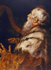 欧洲人物油画-老人