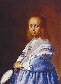 欧洲人物油画-女孩