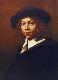 欧洲人物油画-青年