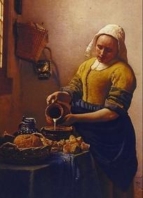 欧洲油画-厨娘