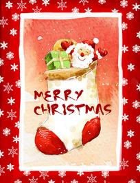 圣诞贺卡海报模板