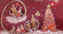 圣诞节插画 圣诞贺卡