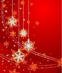 红色的圣诞和新年矢量素材