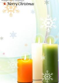 温馨圣诞烛光