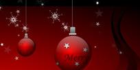旋转的圣诞彩灯