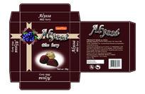 蓝莓巧克力包装盒设计展开图
