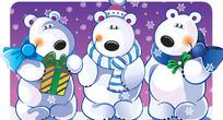 圣诞可爱熊矢量