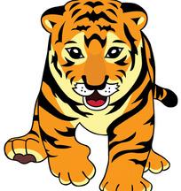 可爱的卡通老虎