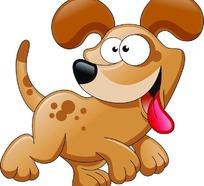 可爱卡通狗