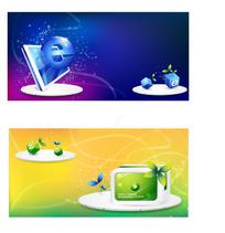 网页电视背景时尚元素