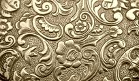 金色的欧式花纹金属雕刻图案
