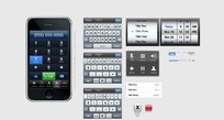 iphone苹果手机界面设计PSD