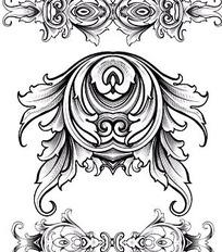 欧式华丽古典花纹矢量素材