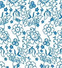花朵花纹背景矢量素材