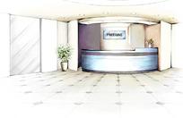 PS手绘大厅前台效果图