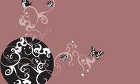 蝴蝶与花纹(矢量CDR9.0)