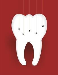 牙膏商业海报cdr