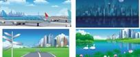 插画-现代都市