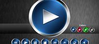 音乐控制面板的按钮