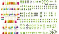标签与环保图形矢量素材