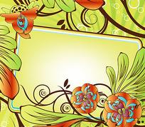 五彩缤纷的花纹花版