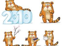 2010可爱的小老虎矢量素材