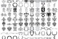 欧式皇家象征元素矢量