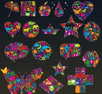 五彩图案汇聚成的图形