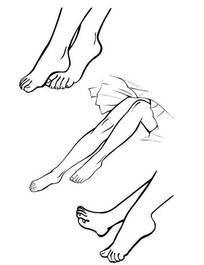 线描画-脚-女人腿