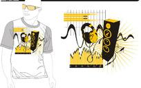 动感 音乐 音箱 柱状图