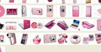 粉色系列手机图标PNG