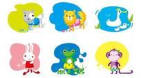 可爱卡通动物矢量图片
