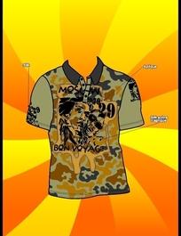 国外迷彩T恤带工艺流程