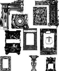 欧式古典雕刻边框相框