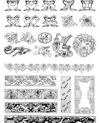 中国古典图案花边边框矢量