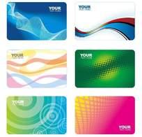 线条图案风格名片卡片设计模板