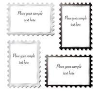 邮票风格名片卡片设计模板免费下载
