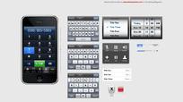 iPhone GUI手机界面设计psd