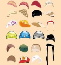 矢量帽子-棉帽-太阳帽-鸭舌帽