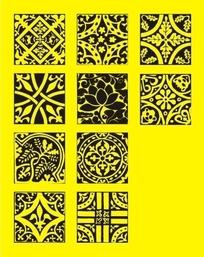 各种各样的古典花纹