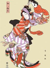 日本歌舞艺妓图片[ 矢量图. AI]