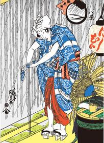 日本女人图片[ 矢量图. AI]