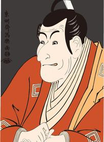 日本武士画像图[ 矢量图. AI]