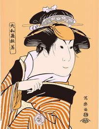 太和屋日本女人图[ 矢量图. AI]