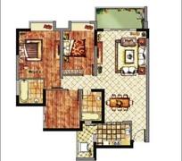 房地产户型平面图素材