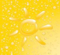 水珠组成的太阳图案