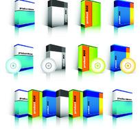 软件包装模板矢量素材