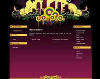 时尚花纹网页模板(html格式)