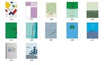 竖式矢量封面设计模板免费下载